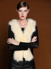 Women's Fashion|Women's|Casual Beige PU Waistcoat With Faux Fur Paneled