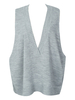 Women's|Women's|Casual Gray V Neck Oversized Knit Vest Jumper