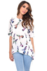Women's DOLLY HUMMINGBIRD PRINT OVERSIZED HIGH LOW TOP