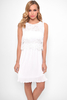 Casual FELICIA WHITE LACE OVERLAY PLEATED DRESS