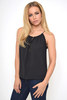Day/Casual LIV BLACK FRILL DETAIL BUBBLE HEM CAMI TOP