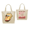 The Rolling Stones Desert Trip Tongue 2016 Natural Canvas Tote