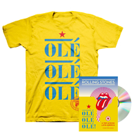 The Rolling Stones OLÉ OLÉ OLÉ! A Trip Across Latin America DVD and T-Shirt Bundle
