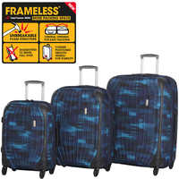 Travel Bags  - 3pc 4 Wheel Single Expander Frameles