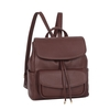 Emboss PU Tassel Backpack