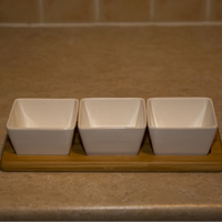 Flower Pots & Stands  - Bamboo Snack Set