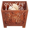Square Rust-effect Fire Basket X1