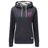 Tog 24 Amy Womens Deluxe Hoody Navy Marl Heart