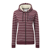 Tog 24 Nordic Womens Deluxe Zip Hoody Deep Port Marl Stripe
