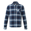 Tog 24 Norman Mens Long Sleeve Flannel Shirt Faded Navy Check