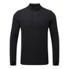 Tog 24 Recreate Mens Tcz Merino Long Sleeve Zip Neck Black/Raven