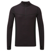 Tog 24 Recreate Mens Tcz Merino Long Sleeve Zip Neck Deep Port Marl/Black