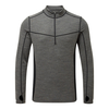 Tog 24 Recreate Mens Tcz Merino Long Sleeve Zip Neck Grey Marl/Black