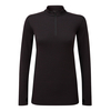 Tog 24 Recreate Womens Tcz Merino Long Sleeve Zip Neck Deep Port Marl/Black