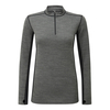 Tog 24 Recreate Womens Tcz Merino Long Sleeve Zipneck Grey Marl/Black
