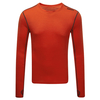 Tog 24 Smart Mens Tcz Merino Long Sleeve Crewneck Orange