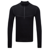 Tog 24 Smart Mens Tcz Merino Long Sleeve Zipneck Black