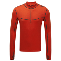 Tog 24 Smart Mens Tcz Merino Long Sleeve Zipneck Orange