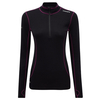 Tog 24 Smart Womens Tcz Merino Long Sleeve Zipneck Black