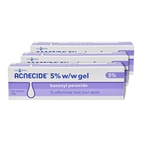 Acne Treatment  - Acnecide 5% Benzoyl Peroxide gel - 30g - Pack of 3