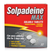 Rheumatic, Muscle & Arthritic Care  - Solpadeine Max Soluble Tablets - 32 Tablets