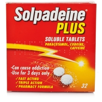 Rheumatic, Muscle & Arthritic Care  - Solpadeine Plus Soluble Tablets - 32 Tablets