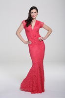 Adrianna Coral Lace Maxi Dress