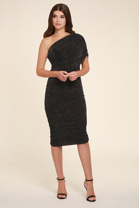 Elegant|Mini  - Alicia Shimmer Midi Dress