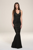Gabriella Black Gold Maxi Dress