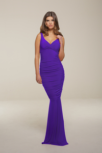 Bridesmaid Dress|Elegant  - Gabriella Purple Maxi Dress #Sale