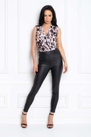 Clothing & Accessories|Mini  - Jade Dusky Pink Leopard Print Sleeveless Body Top