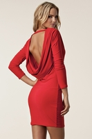 Elegant|Mini  - Milly Red Backless Dress