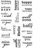 Art Stamps PA Big Sentiments Clear Stamps