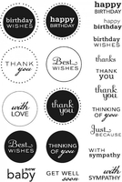 Stamps|Handicraft Tools  - Art Stamps PA Mixed Sentiments Clear Stamps