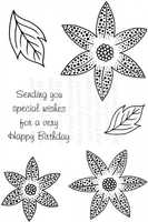 Stamps|Stamping Accessories|Handicraft Tools  - Art Stamps SD Dotty Lily Clear Stamp