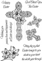 Stamps|Stamping Accessories|Handicraft Tools  - Art Stamps SD Easter Crosses Clear Stamp