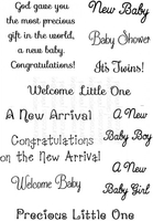 Stamps|Stamping Accessories|Handicraft Tools  - Art Stamps SD New Baby Messages Clear Stamp