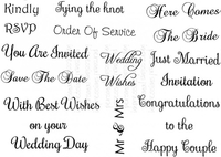 Stamps|Stamping Accessories|Handicraft Tools  - Art Stamps SD Wedding Messages Clear Stamp