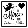 Cupid Be Mine Square Monogram Stamp