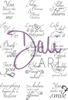 DaliArt DaliART Clear Stamp 1 inch CircleSquare Sentiments