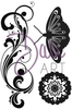 DaliArt DaliART Clear Stamp Flourish Butterfly Flower