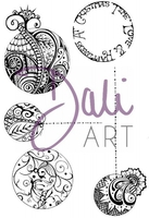 Stamps|Handicraft Tools|Henna  - DaliArt DaliART Clear Stamp Henna Baubles