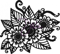 Stamps|Handicraft Tools|Henna  - DaliArt DaliART Clear Stamp Henna Floral