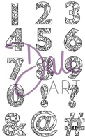 Stamps|Handicraft Tools|Henna  - DaliArt DaliART Clear Stamp Henna NumbersSymbols