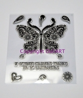 Stamps|Handicraft Tools|Henna  - DaliArt DaliART Clear Stamp Indian Butterfly