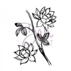 DaliArt DaliART Clear Stamp Lotus Flowers A6