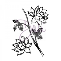 Stamps|Handicraft Tools  - DaliArt DaliART Clear Stamp Lotus Flowers A6