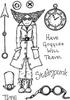 Lindsay Mason Designs A6 Time Travel Clear Stamp