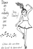 Lindsay Mason Designs DooLallyPip Keep Dancing Clear Stamp
