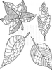 Lindsay Mason Designs Leaves Set Ready To Go Clear Stamp